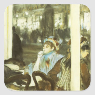 Edgar Degas: Women on a Cafe Terrace Square Sticker