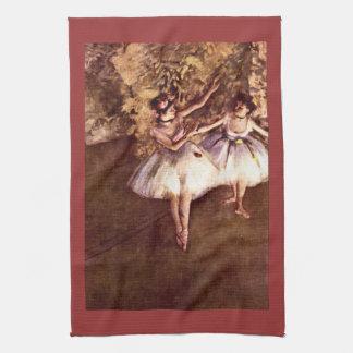 Edgar Degas - Young Dancers Tea Towels