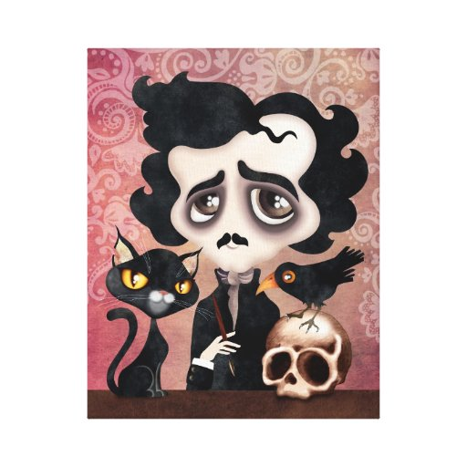 Edgar Poet Wrapped Canvas Art Print Gallery Wrapped Canvas