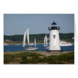Edgartown Lighthouse at Martha's Vineyard Stationery Note Card