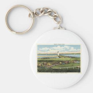 Edgartown Lighthouse Martha's Vineyard c1925 Key Ring