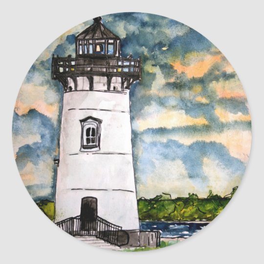 Edgartown Lighthouse Marthas Vineyard Sticker