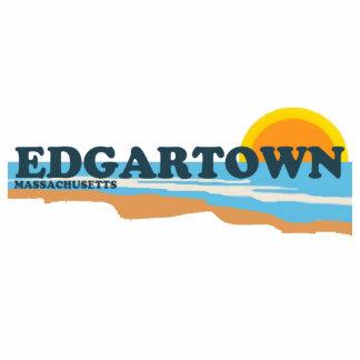 Edgartown MA - Beach Design. Photo Sculpture Badge