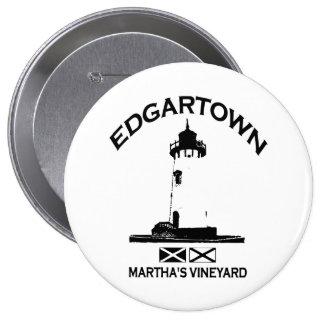Edgartown MA - Lighthouse Design Pinback Button