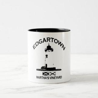Edgartown MA - Lighthouse Design. Coffee Mugs