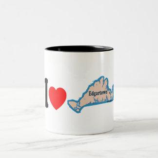 Edgartown MA - Map Design. Coffee Mugs