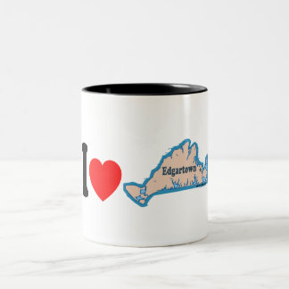 Edgartown MA - Map Design. Two-Tone Mug