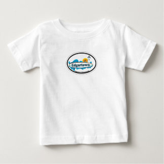 Edgartown MA - Oval Design. Baby T-Shirt