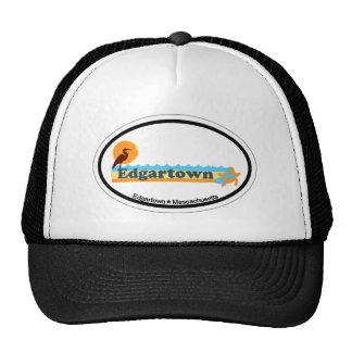 Edgartown MA - Oval Design. Trucker Hats