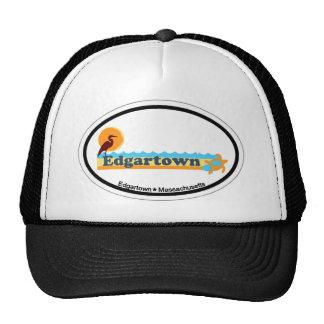 Edgartown MA - Oval Design. Mesh Hats