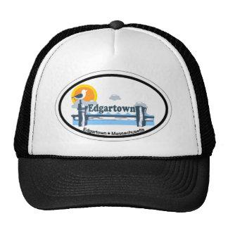Edgartown MA - Oval Design. Hats