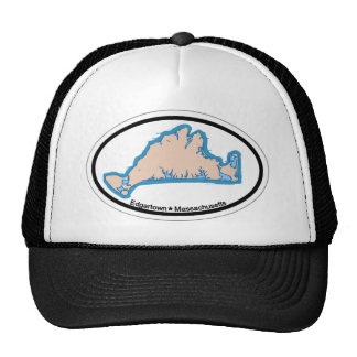Edgartown MA - Oval Design. Mesh Hat
