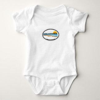 Edgartown MA - Oval Design. Infant Creeper