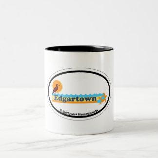 Edgartown MA - Oval Design. Mug