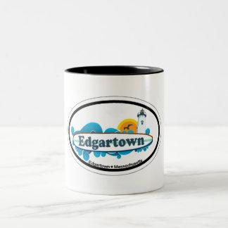 Edgartown MA - Oval Design. Coffee Mugs