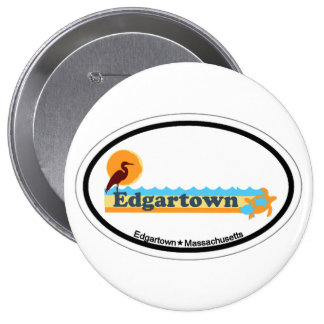 Edgartown MA - Oval Design Pinback Buttons