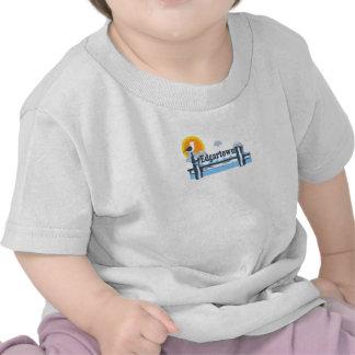 Edgartown MA - Pier Design. T Shirts
