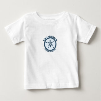 Edgartown MA - Sand Dollar Design. Baby T-Shirt
