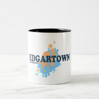 Edgartown MA - Seashell Design. Two-Tone Mug