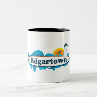 Edgartown MA - Surf Design. Mug
