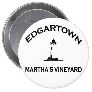 Edgartown MA - Varsity Design. Pinback Button