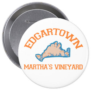 Edgartown MA - Varsity Design. Pinback Buttons