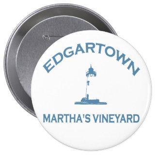 Edgartown MA - Varsity Design Pinback Button