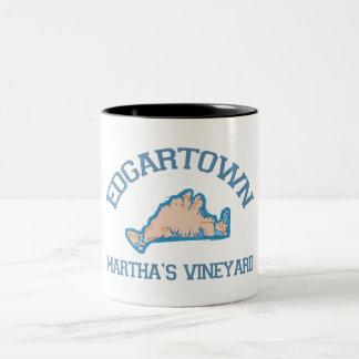 Edgartown MA - Varsity Design. Two-Tone Mug