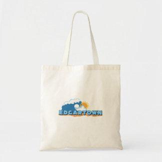 Edgartown MA - Waves Design. Canvas Bags