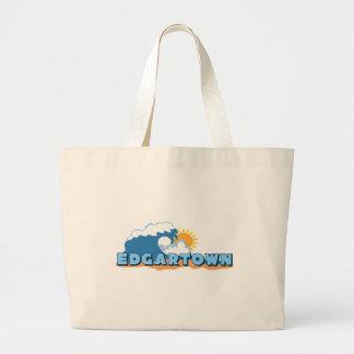 Edgartown MA - Waves Design Canvas Bag