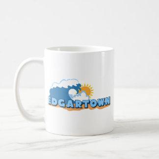 Edgartown MA - Waves Design. Basic White Mug