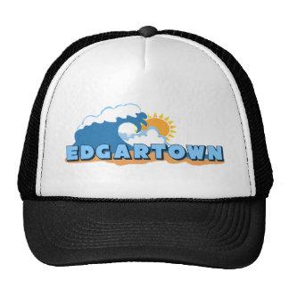 Edgartown MA - Waves Design Mesh Hats