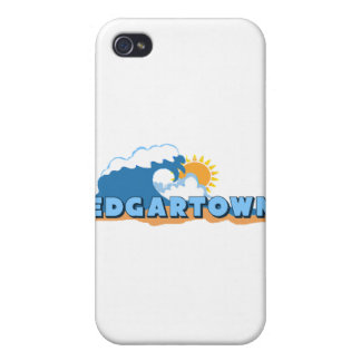 Edgartown MA - Waves Design iPhone 4 Cases