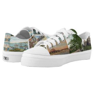 Edgartown Postcard LowTop Sneaks Printed Shoes