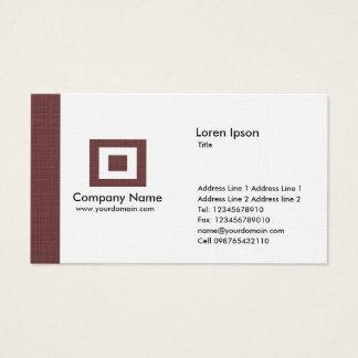 Edge - Dark Brown Business Card
