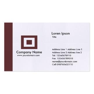 Edge - Dark Brown Pack Of Standard Business Cards