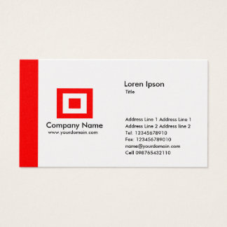 Edge Gold - Red Business Card