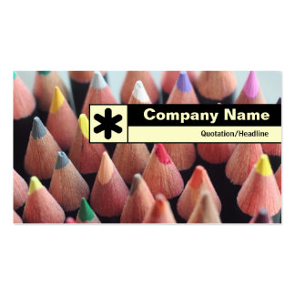 Edge Labeled - Color Pencils Pack Of Standard Business Cards