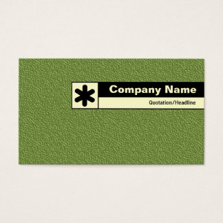 Edge Labeled - Green Embossed Tex Business Card