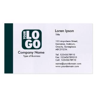 Edge (Logo) - Dark Green Pack Of Standard Business Cards
