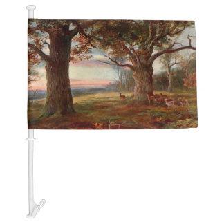 Edge of Sherwood Forest Car Flag