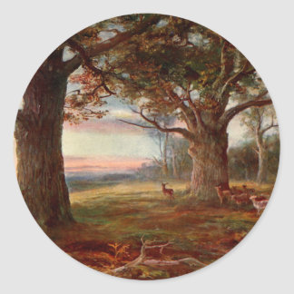 Edge of Sherwood Forest Classic Round Sticker