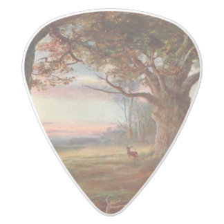 Edge of Sherwood Forest White Delrin Guitar Pick
