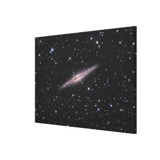 Edge-on view of the NGC 891 Spiral Galaxy in Andro Canvas Print