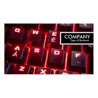 Edge Tag - Glowing Keyboard Pack Of Standard Business Cards