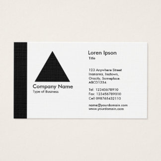 Edge Triangle - Black Business Card