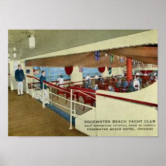 Edgewater Beach Hotel, Chicago Vintage Poster