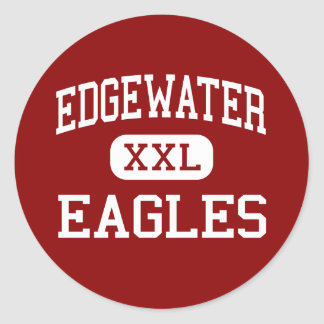Edgewater - Eagles - High School - Orlando Florida Classic Round Sticker
