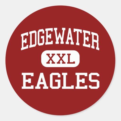 Edgewater - Eagles - High School - Orlando Florida Round Stickers