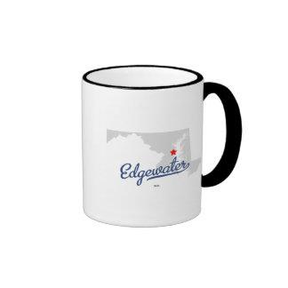 Edgewater Maryland MD Shirt Coffee Mugs